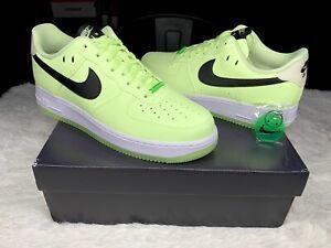 Nike Air Force 1 Low 07 Glow in the Dark Barely Volt Neon Women 12 / Men sz 10.5