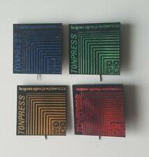TONPRESS KAW (Plattenlabel Polen) Set mit 5 Abzeichen original 1960er Jahre