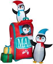 Gemmy Airblown Penguins Mailbox Inflatable