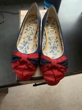 WOMENS GUCCI FLAT SHOES RED/BLUE SZE 39