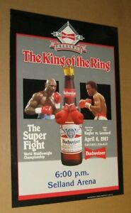 Official April 6, 1987 HAGLER vs LEONARD Middleweight Championship BUDWEISER