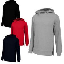 NE PEOPLE Mens Basic Pullover Long Sleeve Hoodie with Side Zipper [NEMT20]