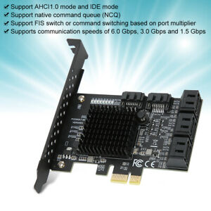PCIe PCI Express to SATA3.0 8-Port SATA III Expansion Controller Adapter Card 6G