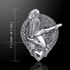 Celtic Knotwork Claddagh Irish Dancer .925 Sterling Silver Pendant Peter Stone