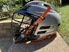 Cascade CPX-R Adjustable Lacrosse Helmet Silver With Navy Blue Visor and Decals.