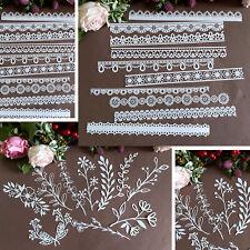 Laser Die Cut Lace Paper Scrapbook Embellishment Decorative Paper#1