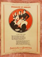 Abdulla Superb Cigarettes - A Male Dress Show - 1933 Advertisement