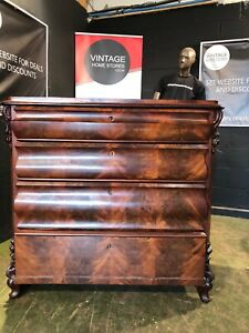 CAN DELIVER VINTAGE ANTIQUE 19 CENTURY MAHOGANY FRENCH SECRETAIRE CHEST DRAWERS