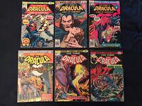 TOMB OF DRACULA lot of 6 Comics: #18 (KEY ISSUE), 27, 35, 39, 48, 61: Avg VG-