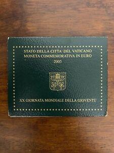 2 Euro Commemorativo VATICANO 2005 XX Giornata Mondiale Gioventù In Folder FDC