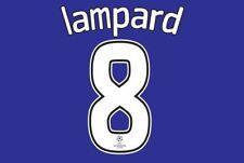 Lampard #8 Chelsea 2008 CHAMPIONS LEAGUE Finale Calcio Nameset per maglia