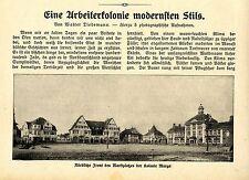 Arbeiterkolonie Marga Gartenstadt bei Senftenberg Niederlausitz G. Schumann 1913