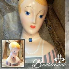 Art Deco Style Flapper Painted Mannequin Head 11