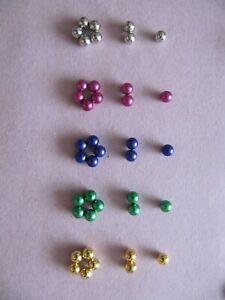 Fake Nipple Piercing 5mm (x 2) Magnetic Spheres in 6 Colours
