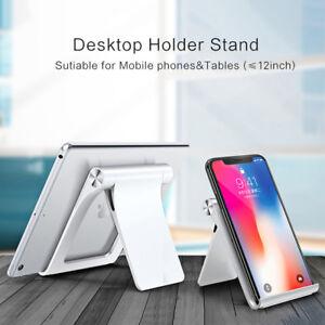 Universal Desktop Phone Stand Holder Mount Cradle Adjustable For iPhone Tablet