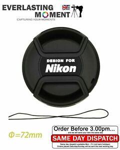 LC-72 Centre Pinch lens cap for Nikon Lenses fit 72mm filter thread