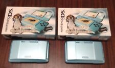 Two Nintendo DS NTR-001 Nintendogs Best Friend Teal Edition SYSTEMs ONLY