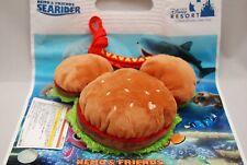 Tokyo Disney Resort Mickey Hamburger Plush Pass Case Bag Burger Coin Purse F/S