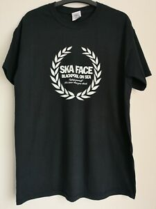 Ska Face Blackpool On Sea Black T Shirt Sz M NEW