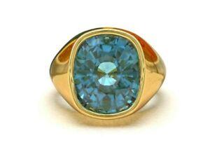14K Gold London Blue Topaz Ring 6ct london blue topaz ring gold