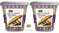 2 Packs Nonni's Almond Dark Chocolate Biscotti 25 ct 2 LB 1.25 oz Each Pack