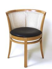 STUNNING  HUNGARIAN  'ECHO LUX' BARREL BACK  LEATHER  ARMCHAIR  BY HAJDUTHONET