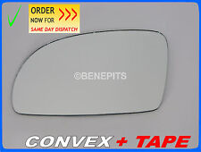 For VW NEW BEETLE 1998-2003 Wing Mirror Glass CONVEX + TAPE Left Side /1040