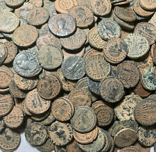 Lot Of 10 Authentic Ancient Roman Empire Bronze Coins - 1500+ Years Old