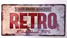 RETRO METAL TIN SIGNS vintage cafe pub bar garage shop antique advertising