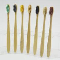 10Packs Pure Bamboo Natural Toothbrush Environmentally Friendly Eco Adult Medium