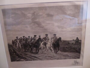 Ernest Meissonier 'Maurice, Comte de Saxe' Leading His Troopers Large Print