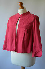Ladies Monsoon Pink Embroidered Short Jacket Size UK 12