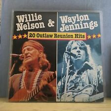 WILLIE NELSON & WAYLON JENNINGS 20 Outlaw Reunion Hits 1984 Vinyl LP EXCELLENT