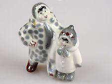 Russische Porzellanfigur zwei Mädchen Winter Porzellan Russland