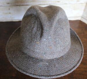 Vintage Fedora Fifth Avenue New York Tweed Mens Hat  7 to 7⅛ Pedigree Union Made