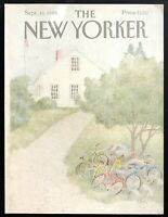 September 16 1985 New Yorker Magazine COVER ONLY Rural Schoolhouse Bikes CEM art