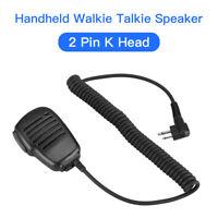 2Pin M Plug Handheld Microphone Mic Speaker Device For 2 Way Radio Walkie Talkie