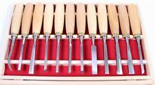 Schnitzwerkzeug 12-tlg Schnitzsatz Schnitzmesser Schnitz-Messer Holz-Schnitzen