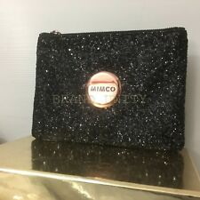 Mimco Sparks Medium Pouch Wallet BNWT Dust Bag RRP $79.95 Black Rosegold