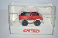 """Wiking 861 06 Unimog 411 (""""FEUERWEHR"""") Vehicle (Red) for Marklin -NEW w/BOX"""