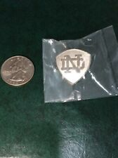 NEW UNIVERSITY NOTRE DAME LAPEL PIN ND SILVER