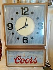 Coors Electric Light Up Sign Clock