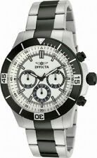 Invucta Specialty 12843 Men's Round Analog Silver Tone Black Chronograph Watch