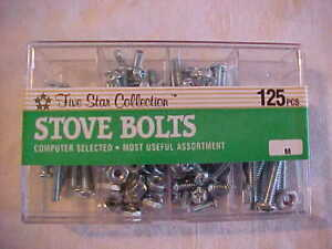 Vintage New Old Stock NOS Elco 125 Piece Stove Bolt Assortment Computer Selected