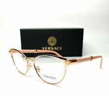Versace VE1259Q 1412 Pink Gold Demo Lens Women's Cat Eye Eyeglasses 54mm