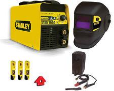 Saldatrice inverter Stanley STAR 7000 200A maschera autoscurante elettrodi squad