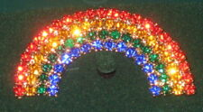 """Rainbow Pin New Gold Tone Crystals Red Orange Green Blue Brooch Jewelry 2"""""""