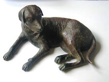 Cast Bronze Figure of a Labrador Retriever Dog