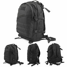 Outdoor 40L Tattico Militare Zaino Campeggio Bag Backpack borsa 3D Rucksack Nero