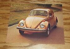 Original 1976 Volkswagen VW Beetle Sales Sheet Brochure 76